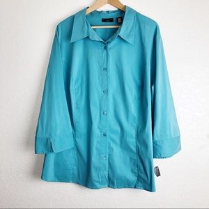 Apostrophe Woman's shirt sleeves 3/4 size 24-26 w